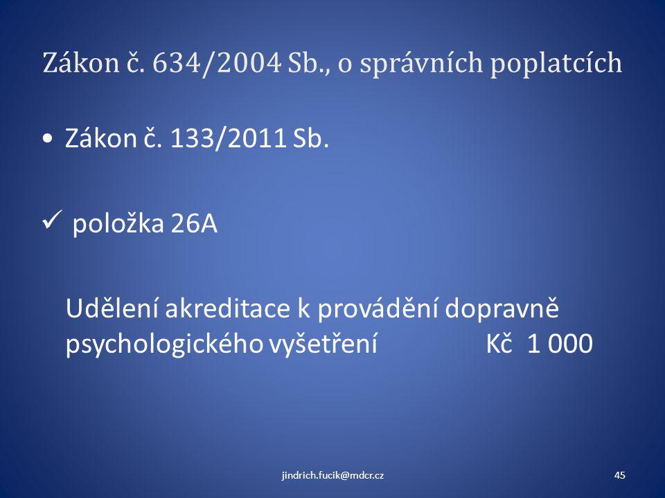 Zákon č. 634/2004 Sb., o správních poplatcích