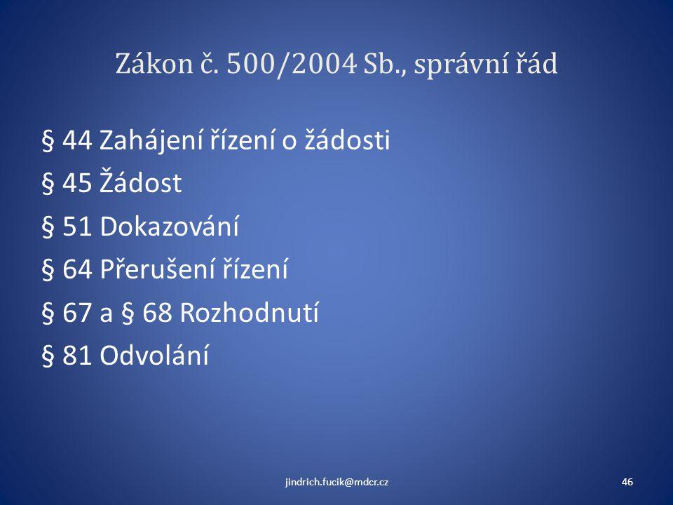 Zákon č. 500/2004 Sb., správní řád