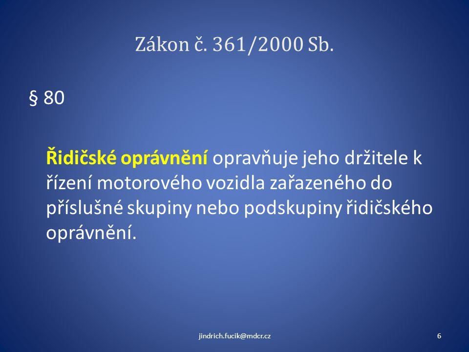 Zákon č. 361/2000 Sb.