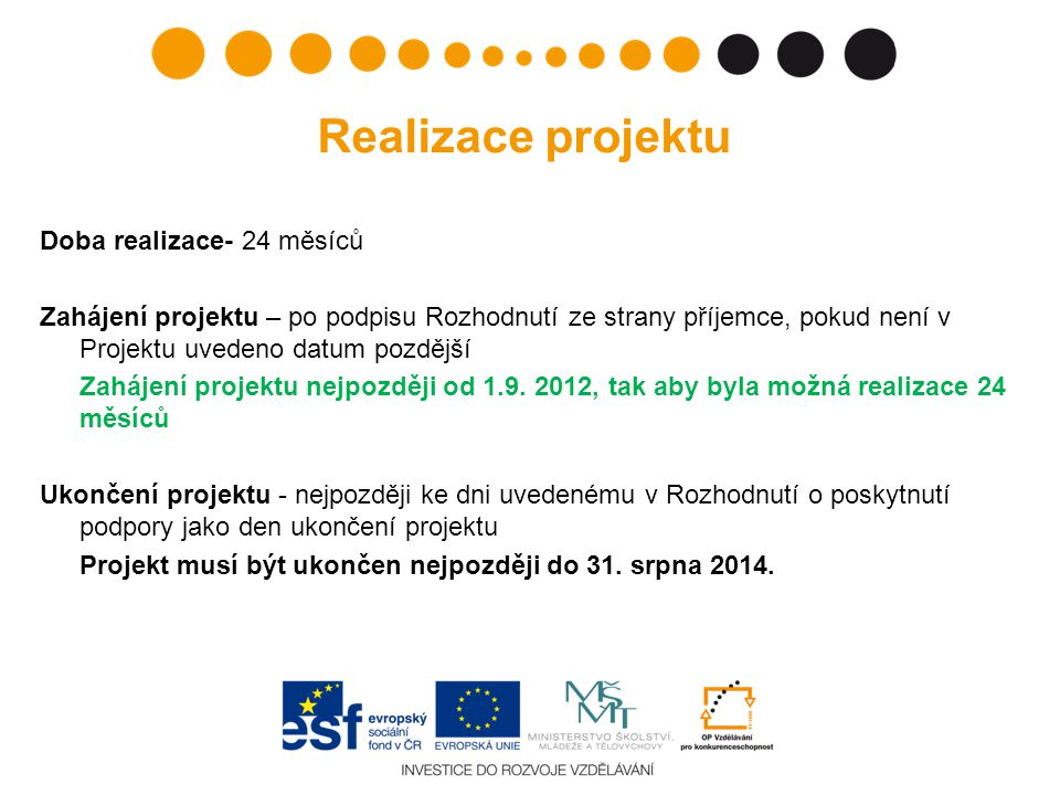 Realizace projektu