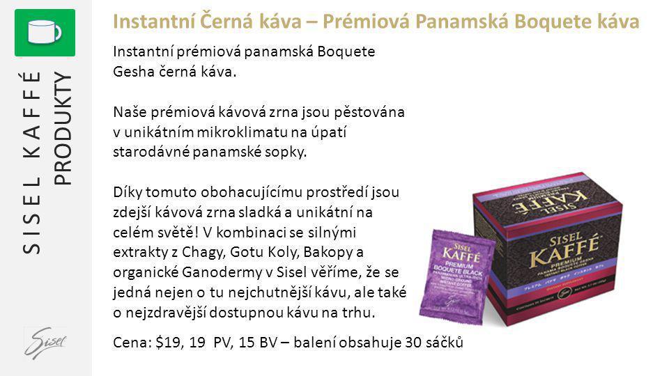 Instantní Černá káva – Prémiová Panamská Boquete káva