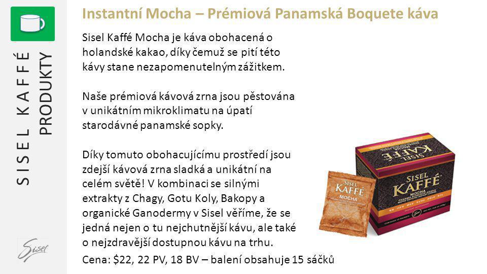 Instantní Mocha – Prémiová Panamská Boquete káva
