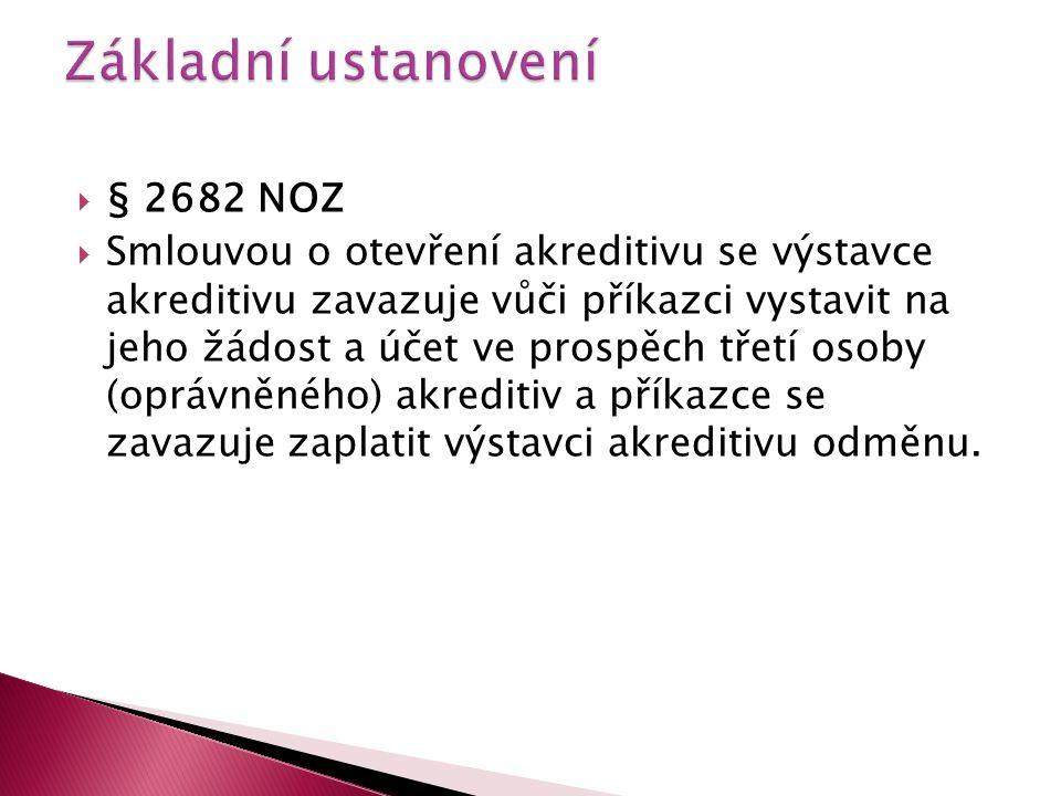 Základní ustanovení § 2682 NOZ