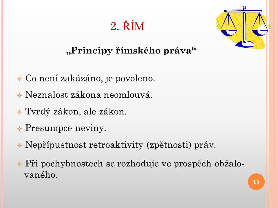 """""""Principy římského práva"""
