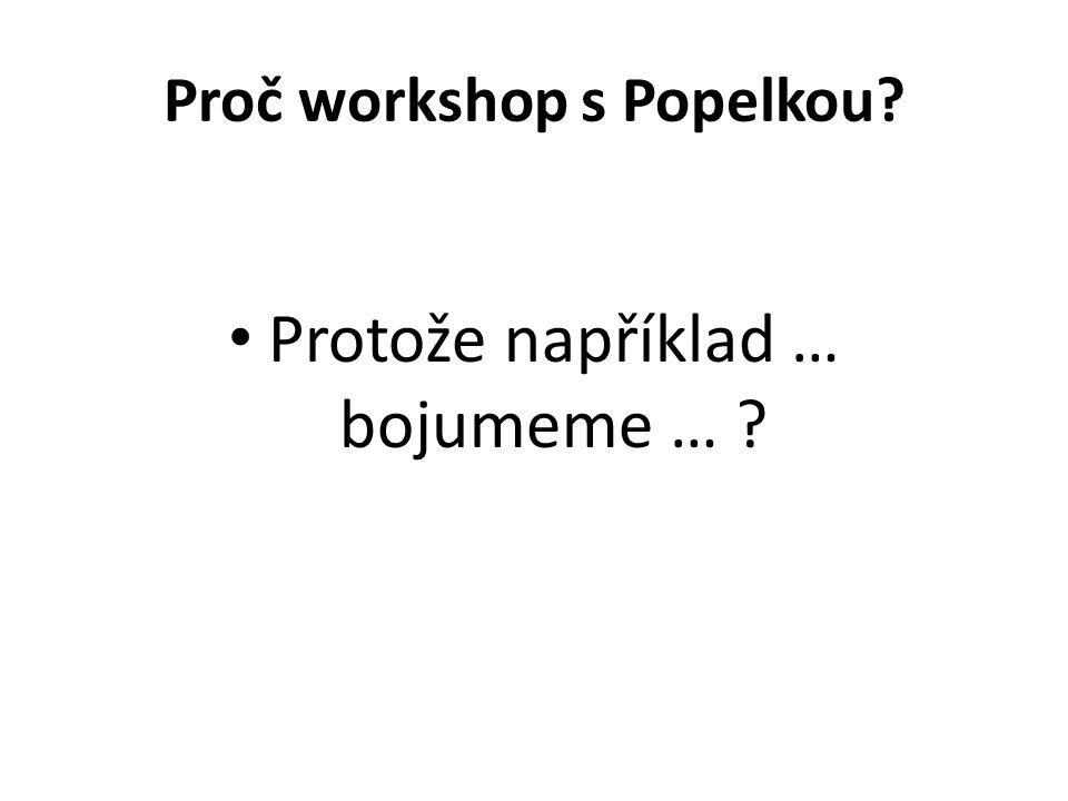 Proč workshop s Popelkou