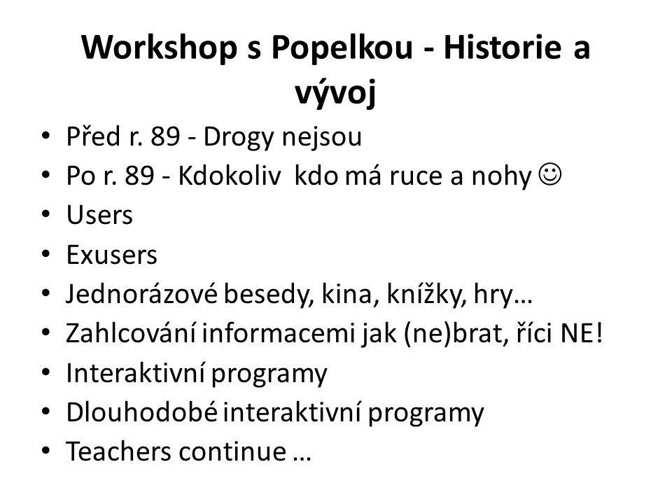 Workshop s Popelkou - Historie a vývoj