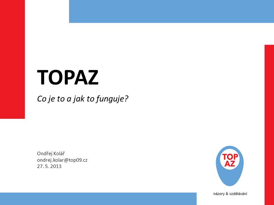TOPAZ Co je to a jak to funguje Ondřej Kolář ondrej.kolar@top09.cz