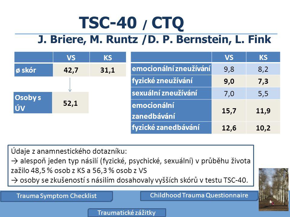 TSC-40 / CTQ J. Briere, M. Runtz /D. P. Bernstein, L. Fink