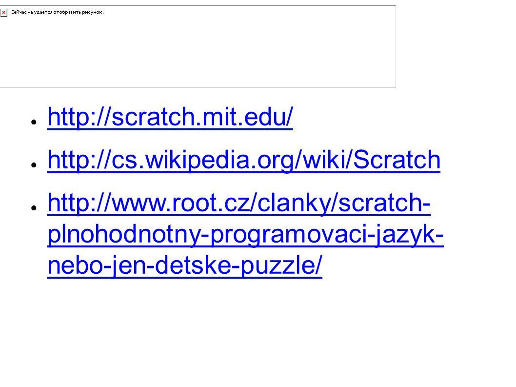 Zdroje a odkazy http://scratch.mit.edu/