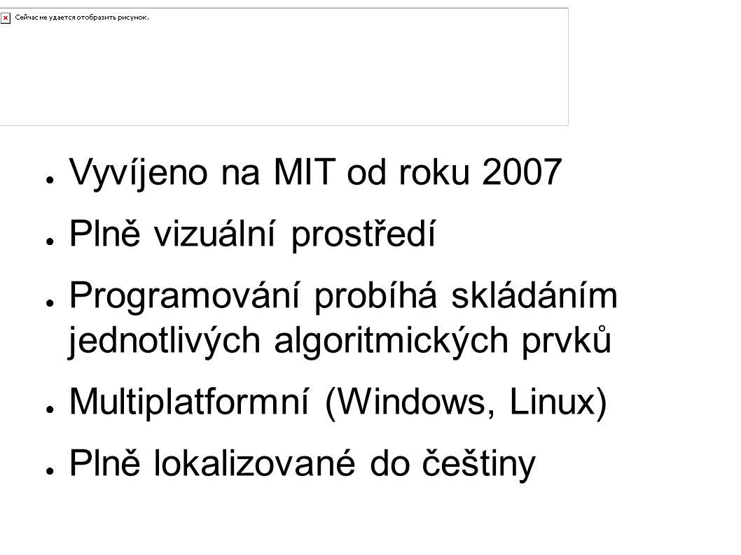 Úvod Vyvíjeno na MIT od roku 2007 Plně vizuální prostředí