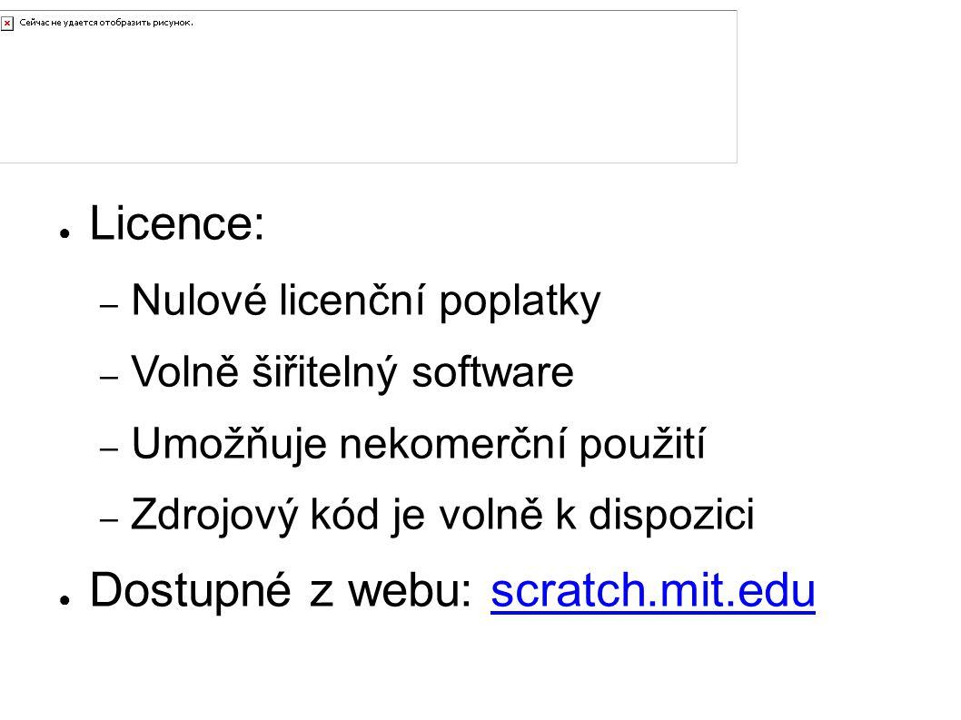 Pořízení Licence: Dostupné z webu: scratch.mit.edu