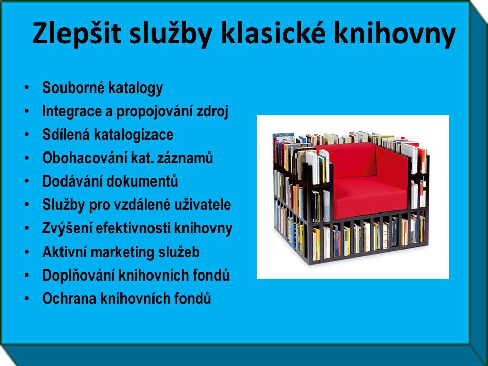Zlepšit služby klasické knihovny
