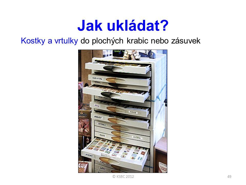 Jak ukládat Kostky a vrtulky do plochých krabic nebo zásuvek