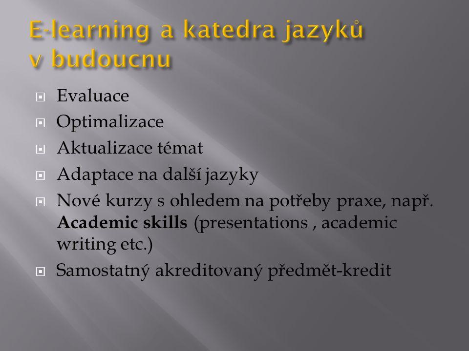 E-learning a katedra jazyků v budoucnu