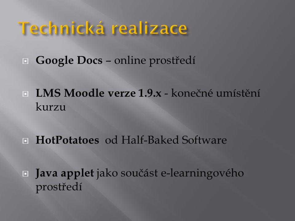 Technická realizace Google Docs – online prostředí