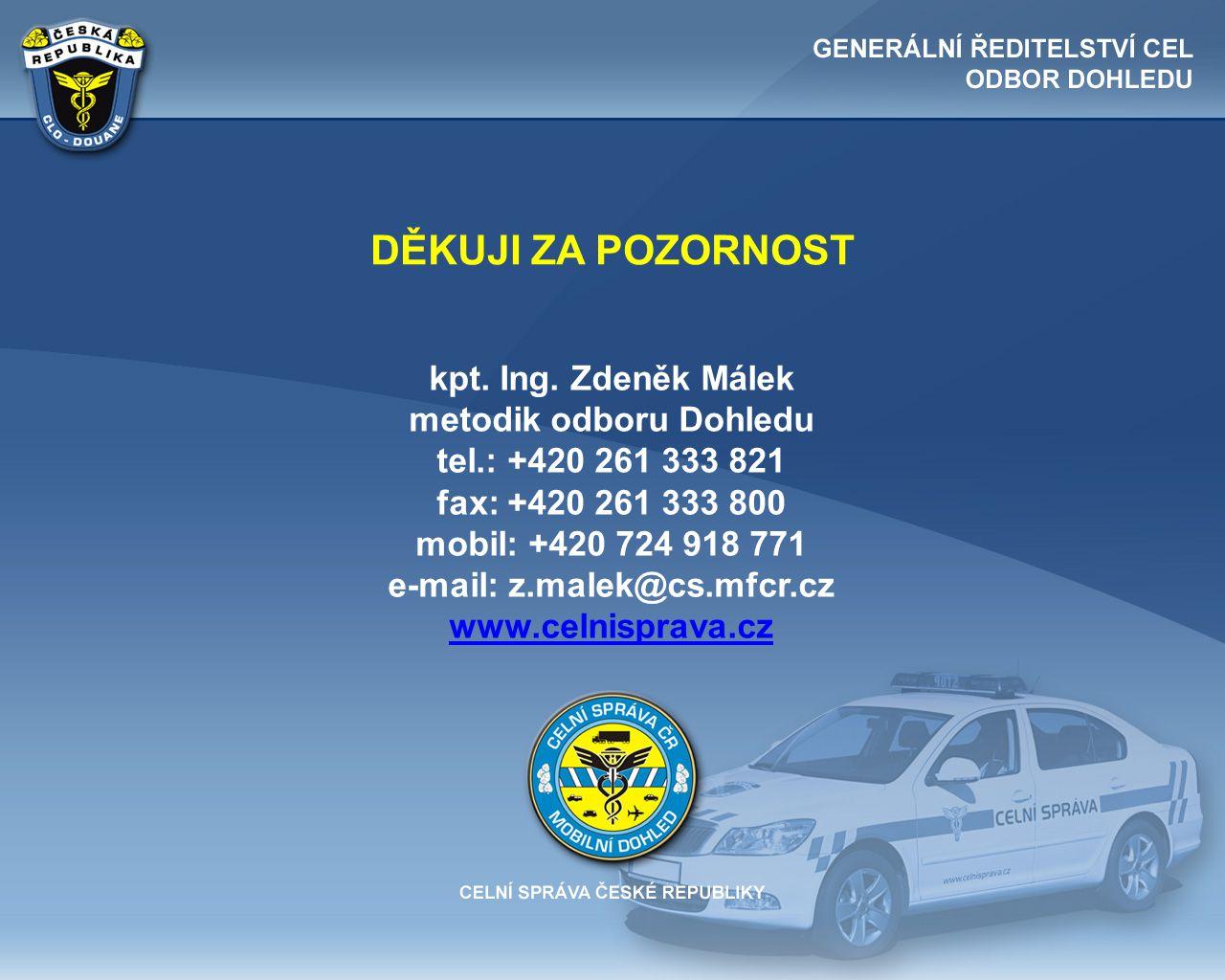 metodik odboru Dohledu e-mail: z.malek@cs.mfcr.cz