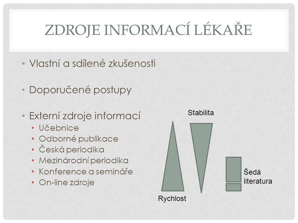 Zdroje informací lékaře