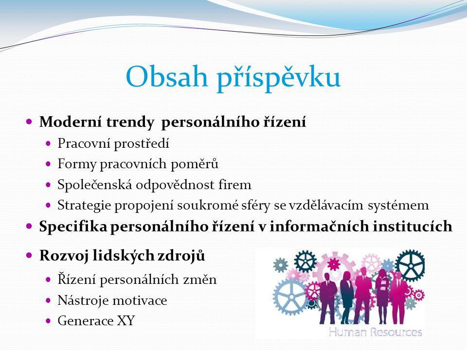 Obsah příspěvku Moderní trendy personálního řízení
