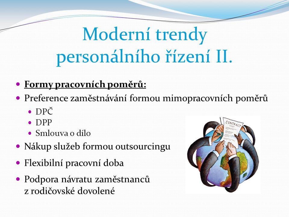 Moderní trendy personálního řízení II.