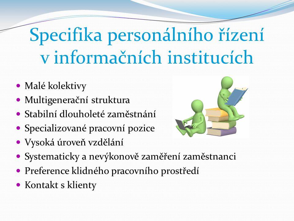Specifika personálního řízení v informačních institucích