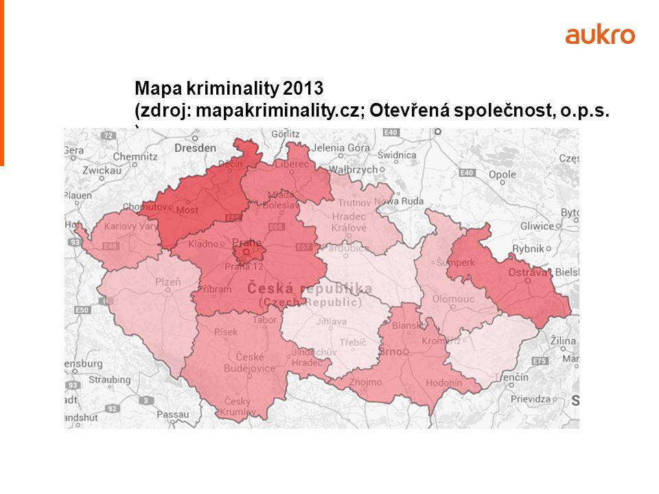 Mapa kriminality 2013 (zdroj: mapakriminality.cz; Otevřená společnost, o.p.s. )
