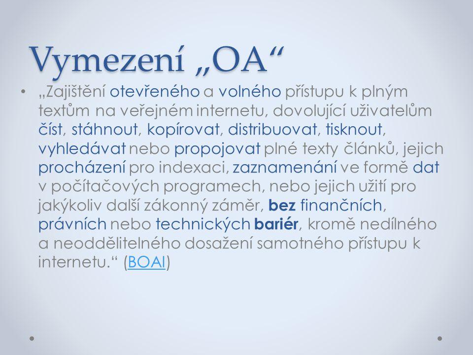 """Vymezení """"OA"""