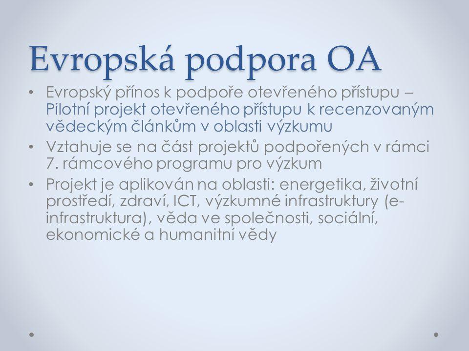 Evropská podpora OA