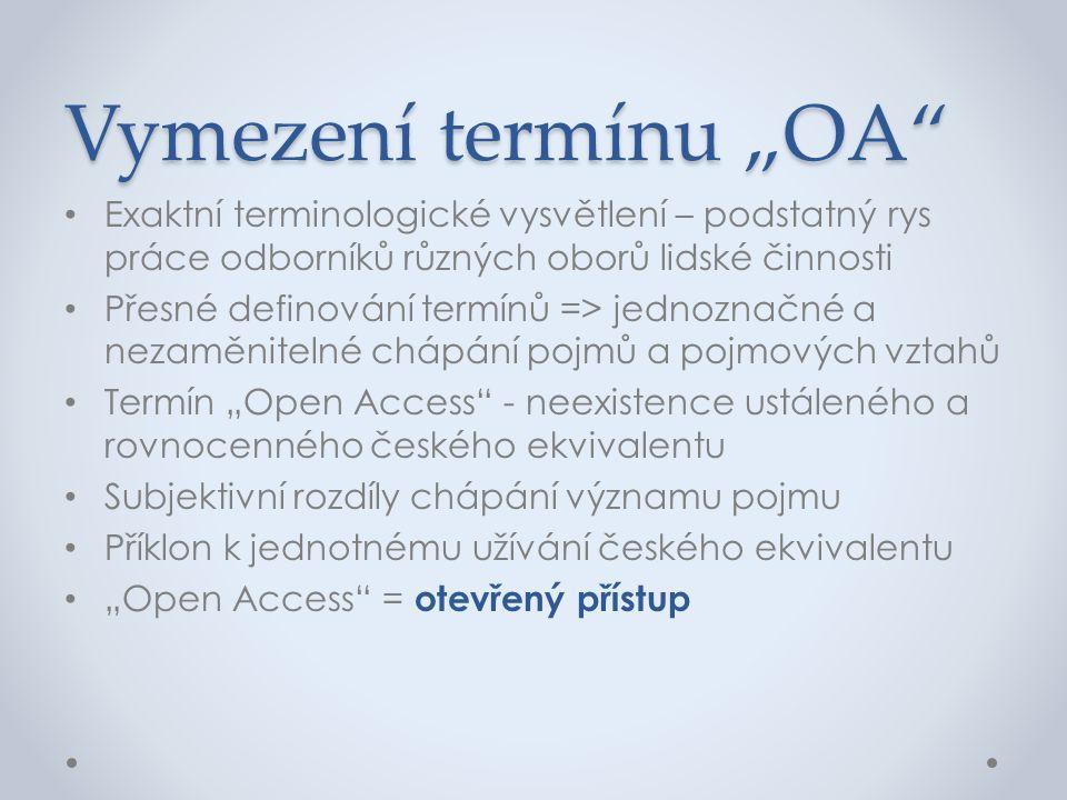 """Vymezení termínu """"OA Exaktní terminologické vysvětlení – podstatný rys práce odborníků různých oborů lidské činnosti."""