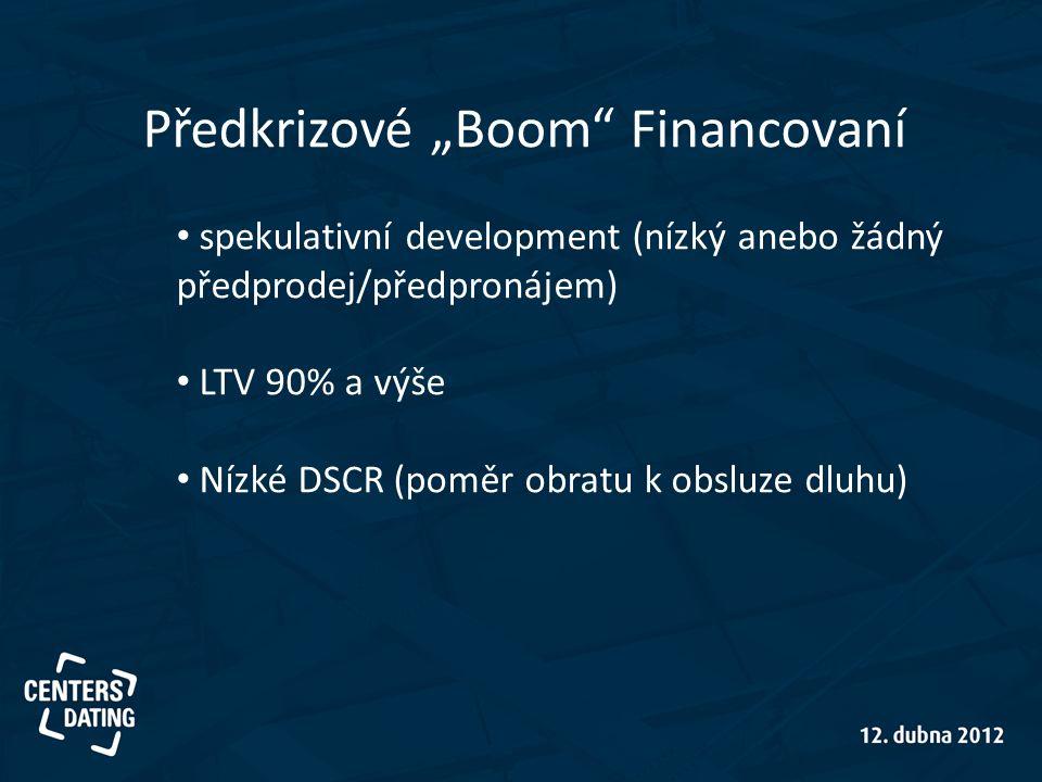"""Předkrizové """"Boom Financovaní"""