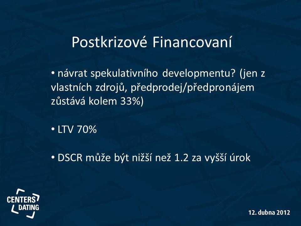 Postkrizové Financovaní