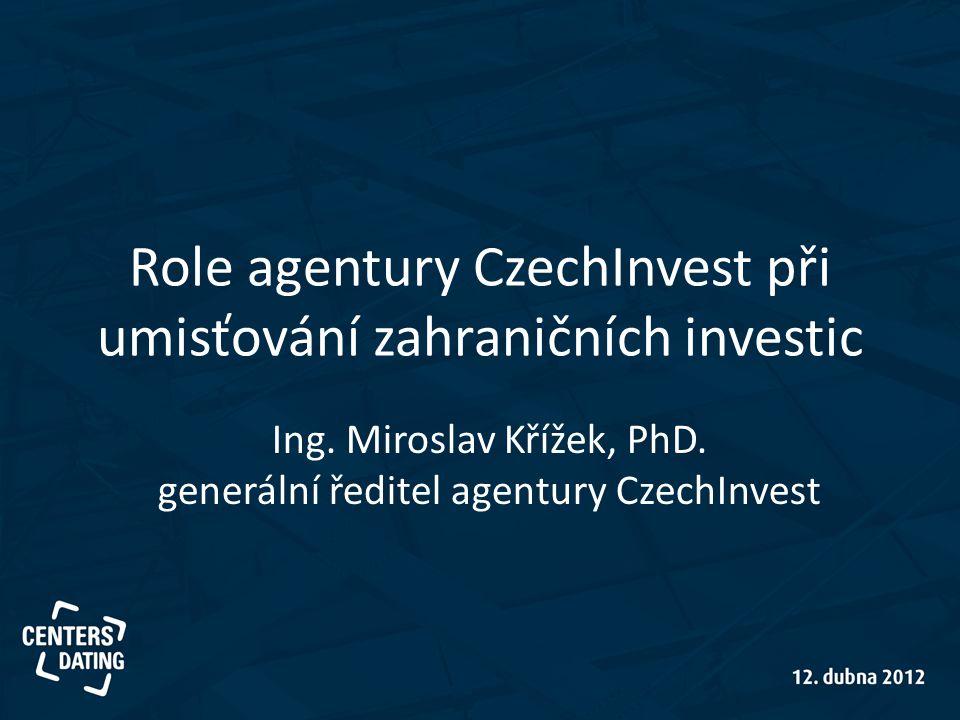 Role agentury CzechInvest při umisťování zahraničních investic