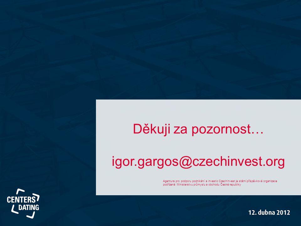 Děkuji za pozornost… igor.gargos@czechinvest.org