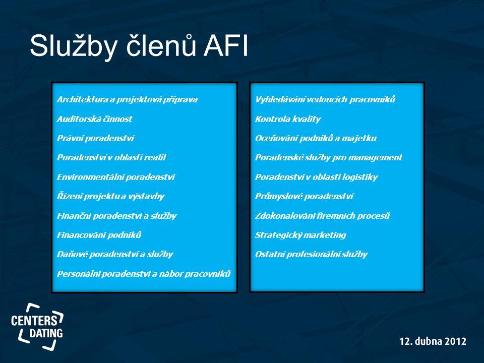 Služby členů AFI Architektura a projektová příprava Auditorská činnost