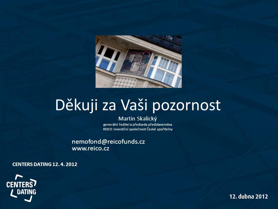 Děkuji za Vaši pozornost Martin Skalický generální ředitel a předseda představenstva REICO investiční společnost České spořitelny