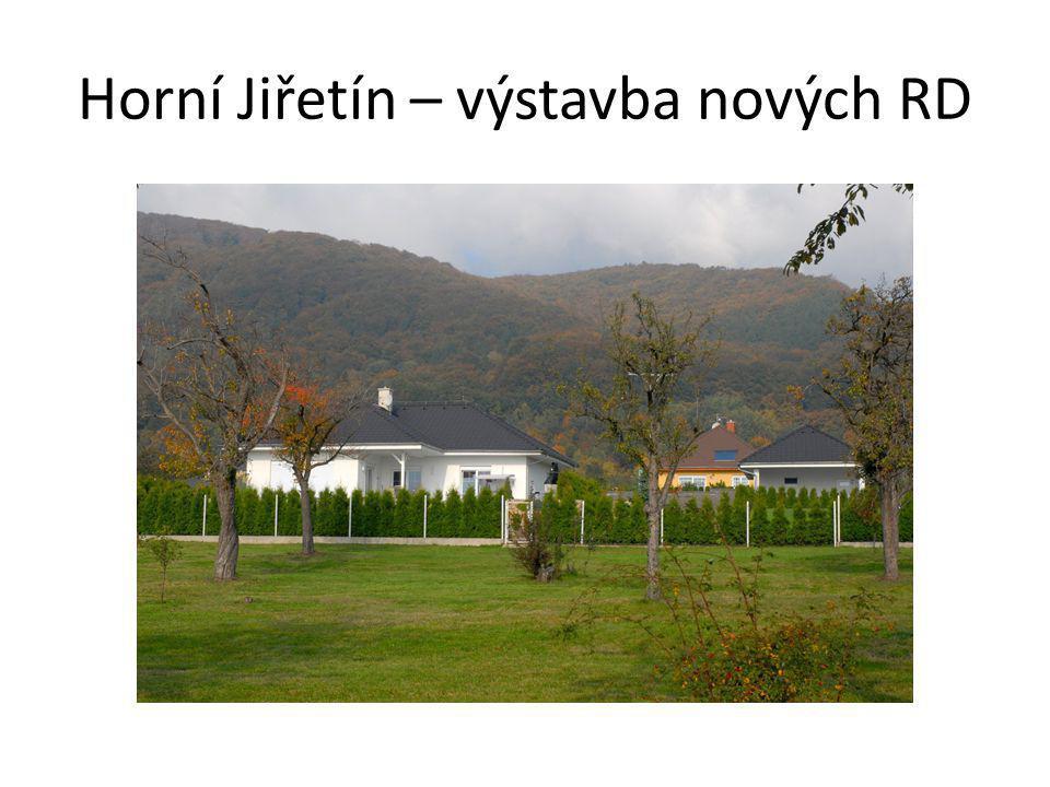Horní Jiřetín – výstavba nových RD