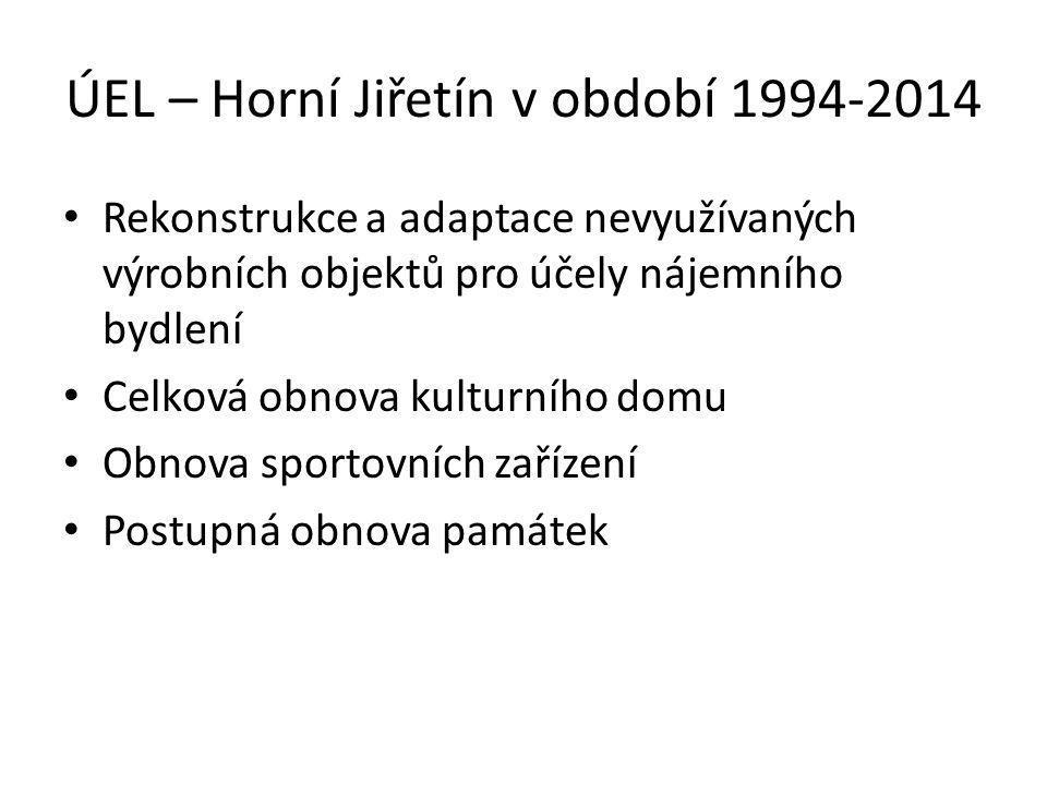 ÚEL – Horní Jiřetín v období 1994-2014