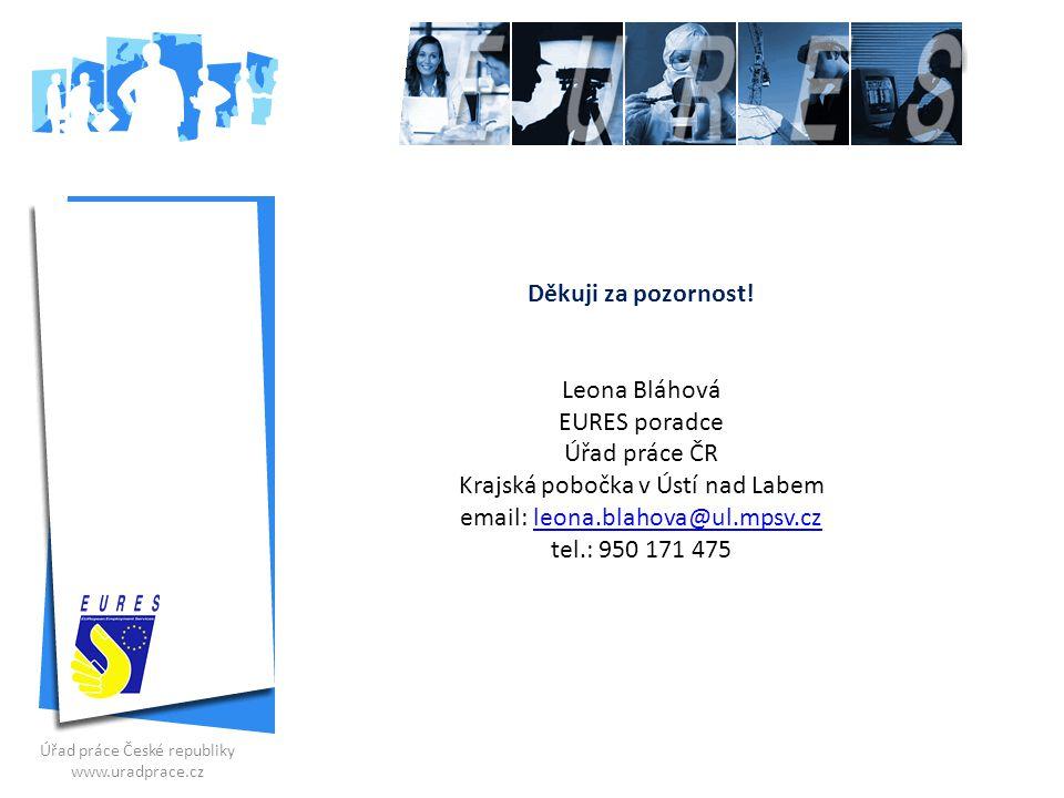 Krajská pobočka v Ústí nad Labem email: leona.blahova@ul.mpsv.cz