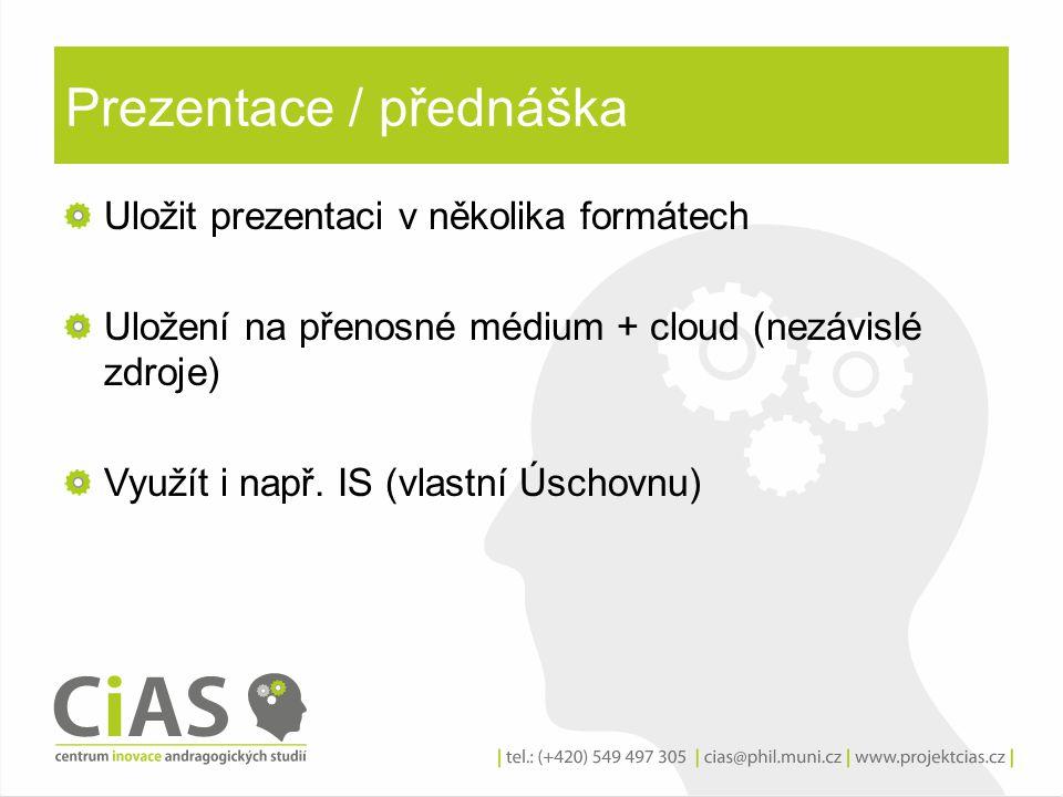 Prezentace / přednáška