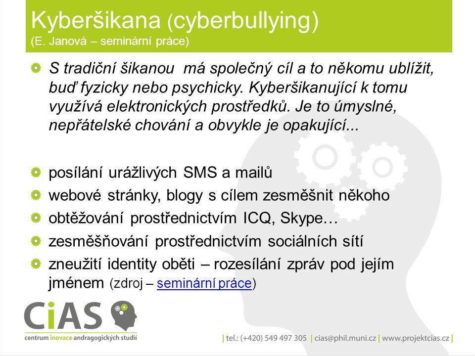 Kyberšikana (cyberbullying) (E. Janová – seminární práce)