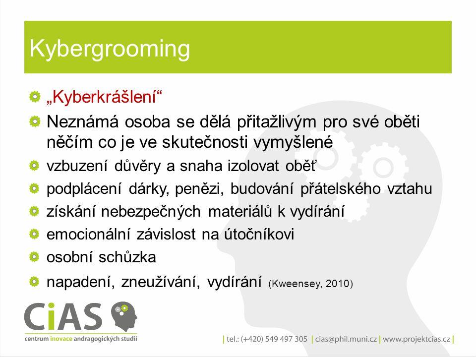 """Kybergrooming """"Kyberkrášlení"""