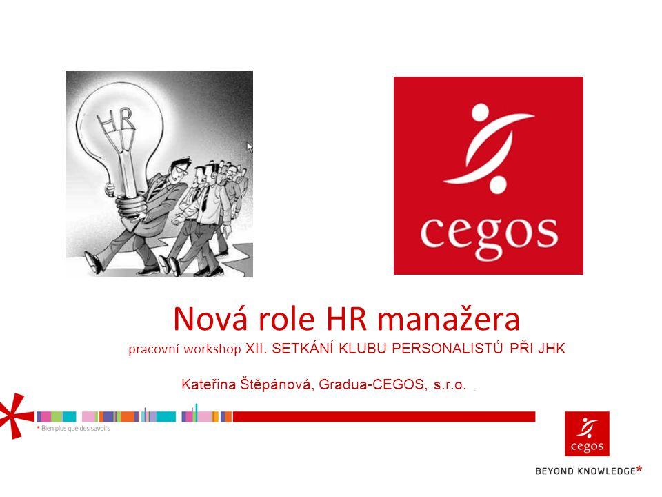 Nová role HR manažera pracovní workshop XII
