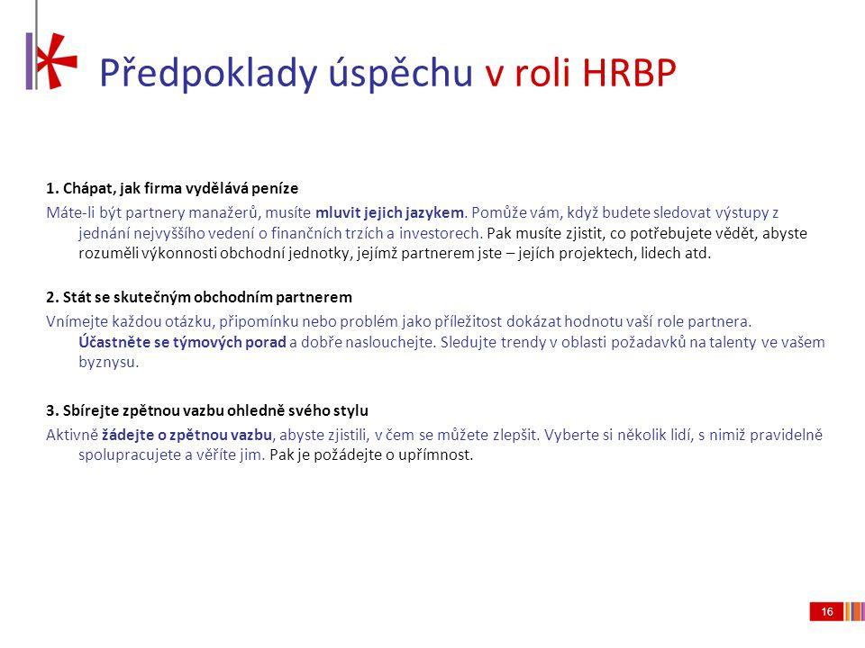 Předpoklady úspěchu v roli HRBP