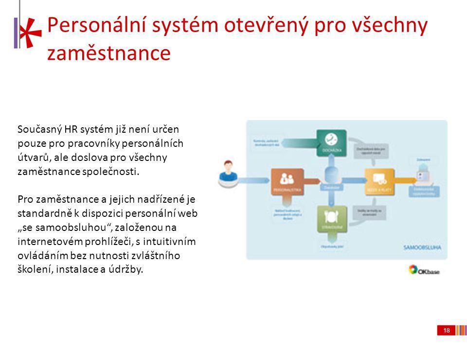 Personální systém otevřený pro všechny zaměstnance