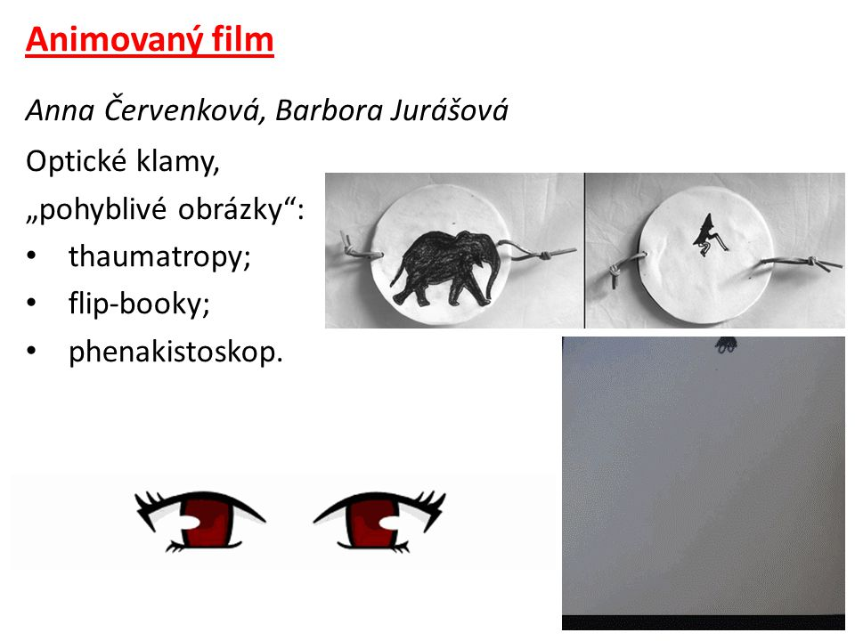 Animovaný film Anna Červenková, Barbora Jurášová Optické klamy,