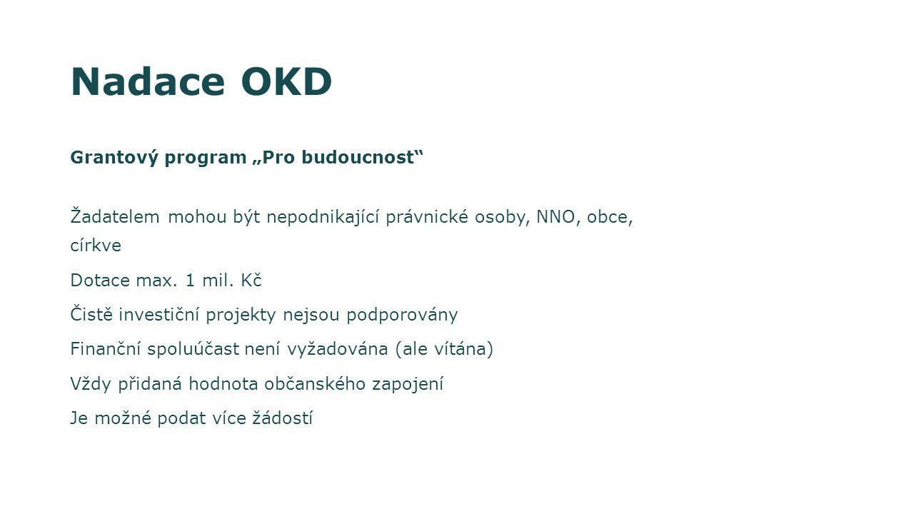 """Nadace OKD Grantový program """"Pro budoucnost"""