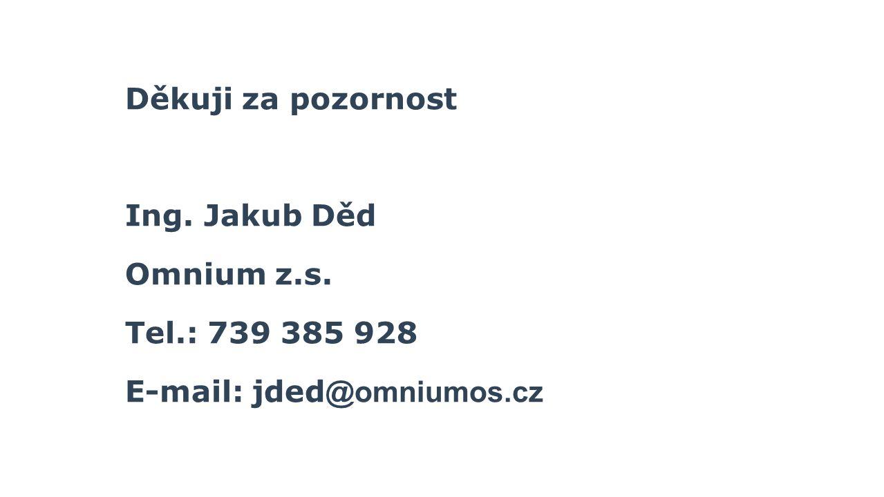 Děkuji za pozornost Ing. Jakub Děd Omnium z.s. Tel.: 739 385 928 E-mail: jded@omniumos.cz