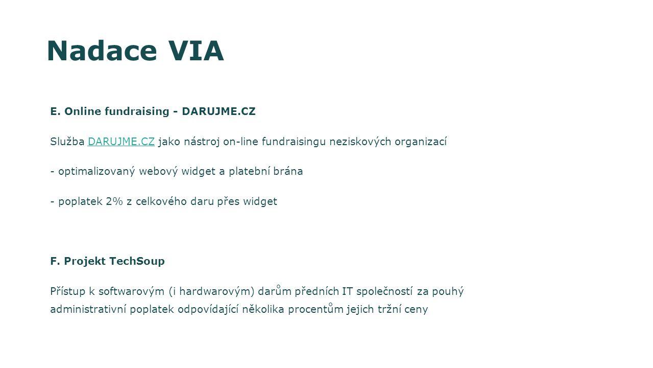 Nadace VIA E. Online fundraising - DARUJME.CZ