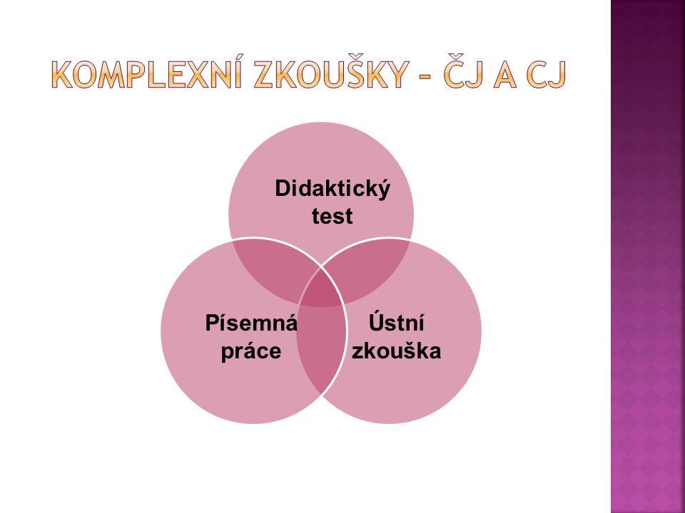 Komplexní zkoušky – ČJ a CJ