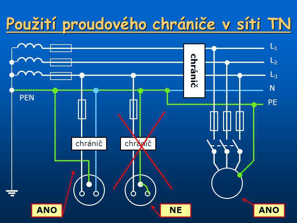 Použití proudového chrániče v síti TN