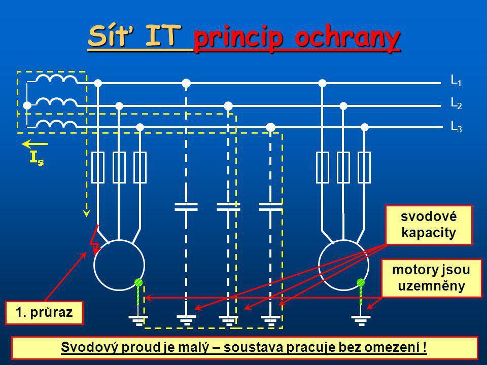 Svodový proud je malý – soustava pracuje bez omezení !